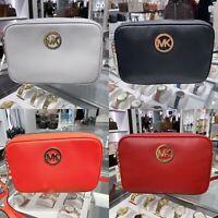 NWT Michael Kors Fulton LG Crossbody Bag Pebble Leather Multi Color