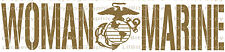 Woman Marine Vinyl Decal - United States Marine Corps USMC Sticker Auto Military