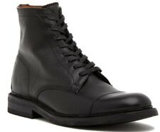$228 Frye Men's Seth Cap Toe Lace Up Leather Boot Black Size 9.5