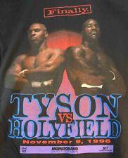 ORIGINAL 1996 MIKE TYSON HOLYFIELD FINALLY Boxing FIGHT Shirt  MGM GRAND Size Lg