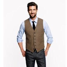 2017 novo colete de tweed homens do vintage inverno verão slim fit noivo desgast