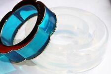 Clear Silicone JUICY COUTURE super shiny Bangle Bracelet mold. (2-16) size 56mm.