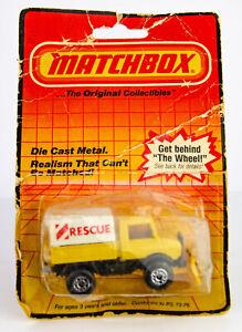 Vintage 1983 Lesney Matchbox Superfast # 48 Mercedes Rescue Unimog Diecast Truck