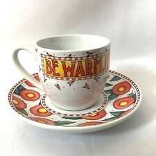 Mary Engelbreit Me Tea Cup & Saucer Be Warm, Inside And Out Coffee Cup Florals