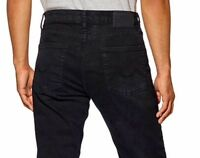 MEN'S URBAN STAR STRETCH RELAXED STRAIGHT LEG AUTHENTIC JEANS,BLACK NEW