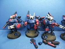 4 XV8 Crisis Battlesuits der Tau BEMALT