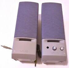 SONY VAIO PCVA-SP2 SPEAKER SYSTEM SET FOR COMPUTER + POWER ADAPTER - EXELLENT