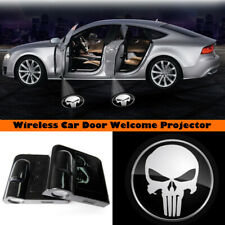 Wireless Car Door The Punisher Skull LED Projector Welcome Ghost Shadow Light