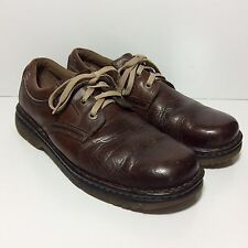 Dr Doc Martens Naturally Distressed Leather Shoes Mens 10 Brown Air Cushioned