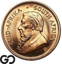 1978 Gold Krugerrand, South Africa 1 OZ Fine Gold Bullion