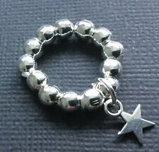 STRETCH FINGER THUMB RING with star charm boho Bijoux festival