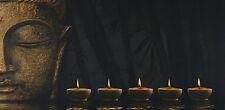 LED-Bild mit Beleuchtung, Leinwandbild, Timer 110x55cm Buddha flackernd