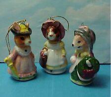 3 Beatrix Potter Ceramic Christmas Ornaments Rabbit Mouse & Squirrel Nutkin?