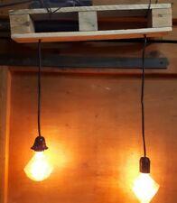 Suspension luminaire vintage fait avec bois de palette