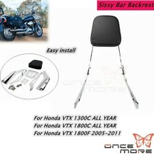 Backrest Sissy Bar Seat With Leather Pad For Honda VTX1300C VTX1800C VTX1800F