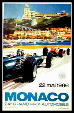 Grand Prix 24 Monaco FRIDGE MAGNET 6x8 Racing Poster Magnetic CANVAS Art Print