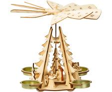 Davartis - Adventsleuchter Pyramide Christi Geburt - Holz