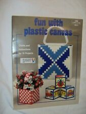 FUN WITH PLASTIC CANVAS PATTERN CHART 16 Projects Tote Bank Frame Boxes Coasters