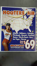 Extremely Rare   Hooters Air  1990's  Airline Advertising Poster