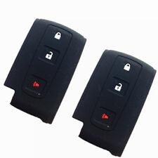 2pcs Black Fob Skin Key Cover Holder Key Jacket Protector Fob remote Keyless