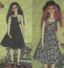 "Sewing Pattern for SD 60cm 23"" BJD Doll   Dress, Bolero,felt hat"