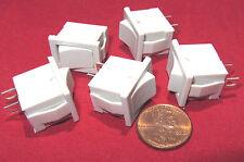 5 Pcs  Joemex SPST Mini Snap-In Rocker Switch, 83 Series, 125V 15A, 250V 10A T85