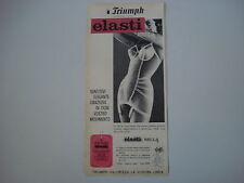 advertising Pubblicità 1962 GUAINA TRIUMPH ELASTI BELLA