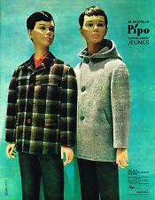 PUBLICITE ADVERTISING  1962   PIPO   mode enfants blzer manteau