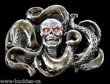 GIANT GIGANTIC OCTOPUS OCEAN SEA MONSTER CREATURE SCARY COOL BELT BUCKLE BUCKLES