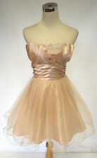 NWT MASQUERADE Champagne Homecoming Dance Dress 13
