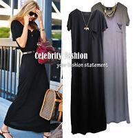 dm4 CFLB Miranda Style Casual Ladies Back Jersey T-shirt Maxi Dress Summer Dress