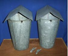 10 MAPLE SYRUP Old GALVANIZED Sap Buckets + Lids COVERS + TAPS Spiles Spouts