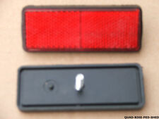 UNIVERSAL RED REAR MOTORBIKE QUAD SCOOTER BIKE REFLECTOR 90MM X 30MM BOLT ON