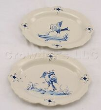 Decorative Ceramic Wall Hanging Chelsea House Line Drawn Bird Plates