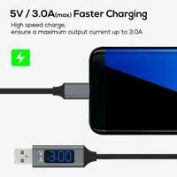 Schnellladekabel mit LED-Spannungsanzeige für Android Typ-C Supply iPhone Q6L5