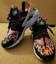 Nike Air Huarache Run PA Sneakers Black/Light Bone/Hot Lava/White Size 10.5