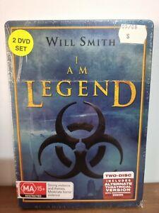 I AM LEGEND - RARE STEELBOOK 2 DISC DVD SET. BRAND NEW & SEALED.  R4 PAL. AU.