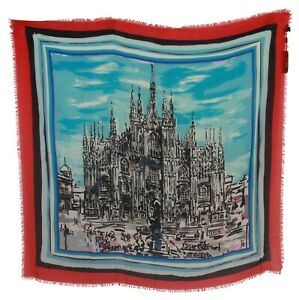 DOLCE & GABBANA Scarf Multicolor Duomo di Milano Wrap Shawl 130 x 140cm RRP $650