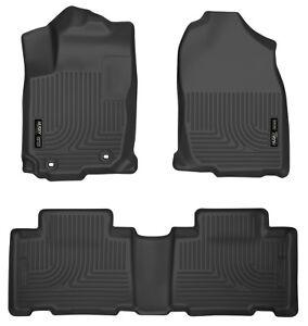 Husky Liners Weatherbeater Black Car Floor Mat Carpet For Toyota 2013-2017 RAV4