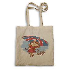 Girl With Cat UK Flag Umbrella Tote bag ee975r
