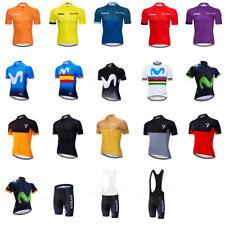 Mens Cycling Jersey Short Pants Sports Shirt Summer Short Sleeve Bike Clothes