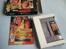 Cutthroat Island (Nintendo SNES) Super NES CIB Complete + Poster Rare Ex-NM
