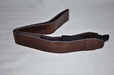 FOR SONY PU LEATHER DARK BROWN  SHOULDER NECK STRAP & RING + PU LEATHER COVER F