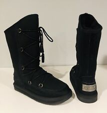 Australia Luxe Collective Croco Norse Sheepskin Fur Lace Up Shearling Boot *6(7?