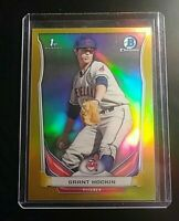 2014 Bowman Chrome #CDP58 Grant Hocking GOLD REFRACTOR #d 05/50 Indians MINT
