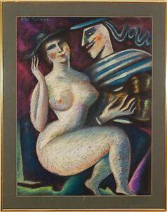 Noi Volkov (Russian-American b.1947) Original Pastel Painting Signed 1990-s