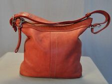 Coach Leather Shoulder Bag Purse Handbag Red