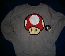 Super Mario Bros Toadstool Sweatshirt Mens XL