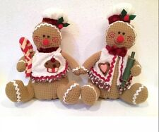 GINGERBREAD BOY GIRL Plush CUPCAKE CANDY CANE  PEPPERMINT CHRISTMAS CANDY THEME