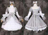 M-3305 S/M/L/XL/XXL Maid Grau Lolita Kleid Cosplay dress Kostüm costume Cosplay